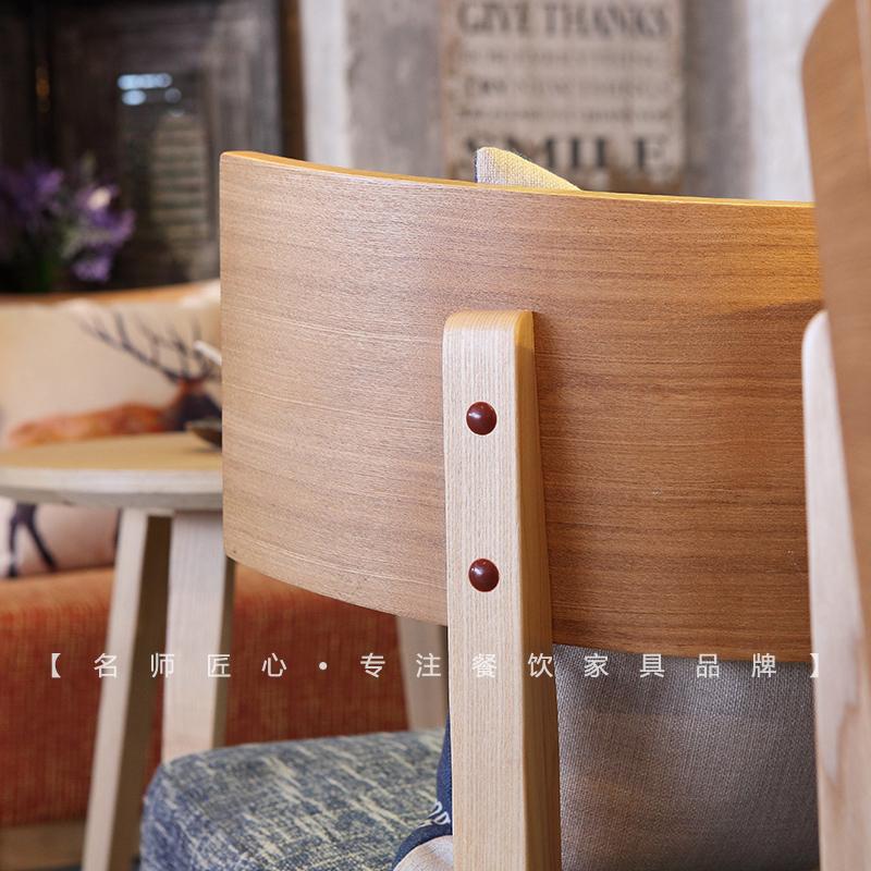 书吧桌椅组合 实木阳台布艺简约现代图书馆 休闲书吧沙发桌椅组合
