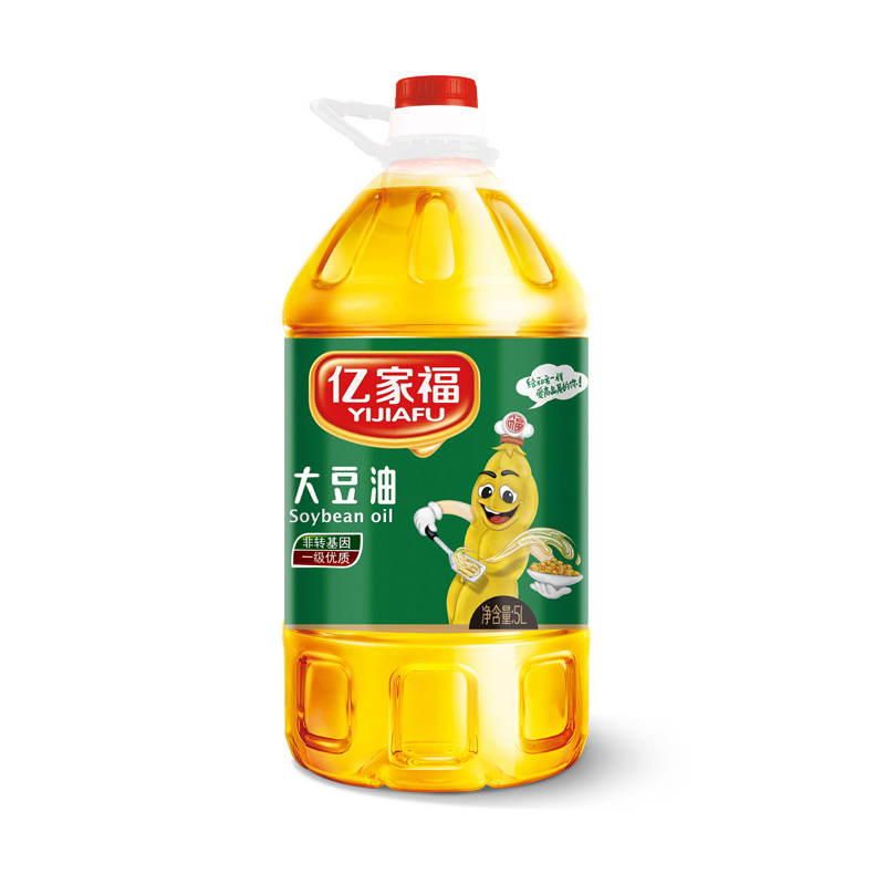 亿家福食用油 一级大豆油5L 食用油植物油 非转基因厂家直销