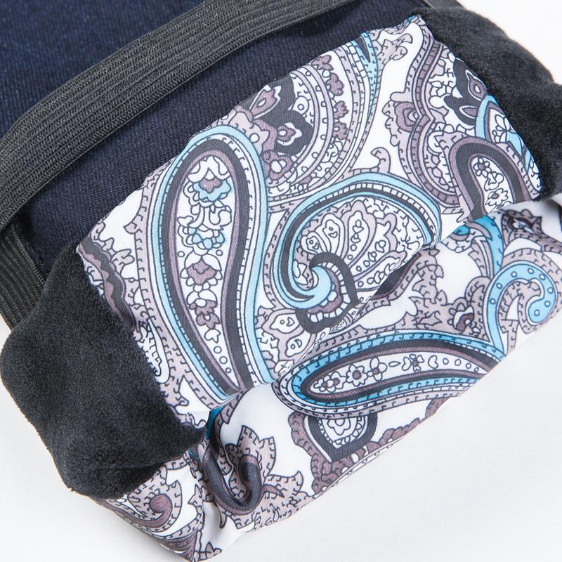 羽绒裤女外穿显瘦牛仔铅笔裤加厚保暖双面白鸭绒大码羽绒棉裤子冬