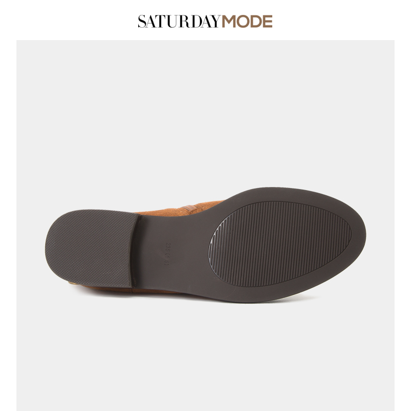 MD84116021 星期六新品绒面牛皮低跟时尚女短靴短筒靴 SATURDAYMODE