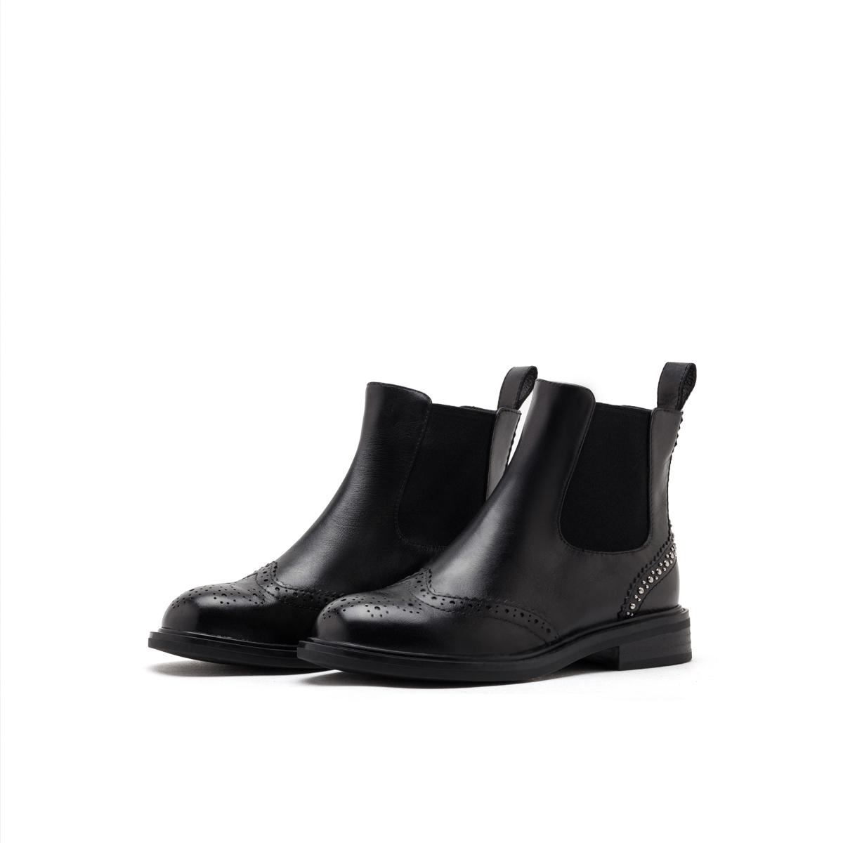 SS94116624 星期六鞋子女潮鞋低跟粗跟铆钉切尔西靴女鞋 Sat & St