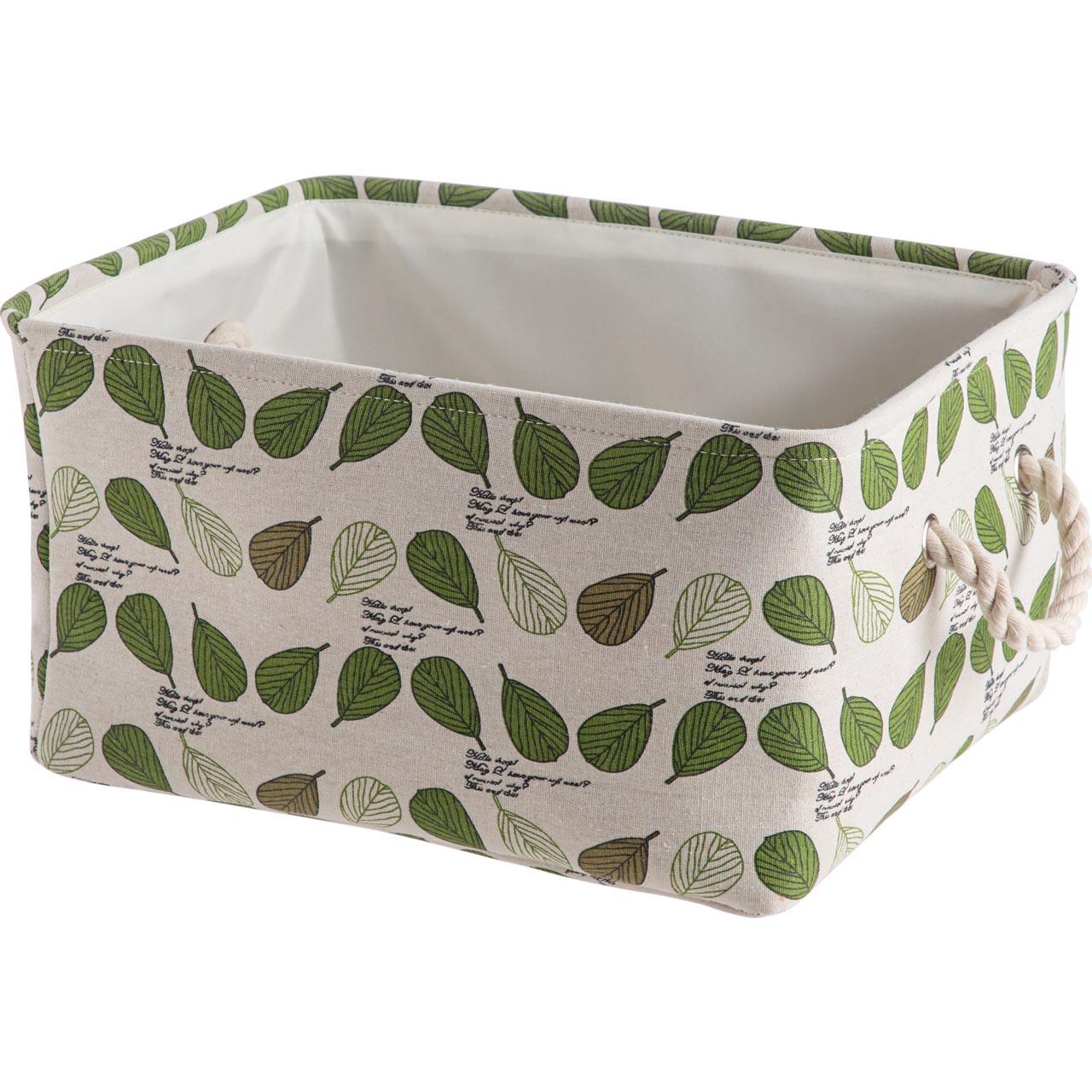 居家家衣服收纳筐布艺桌面整理箱家用厨房零食筐子收纳框收纳箱
