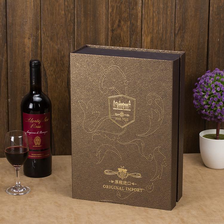 新款红酒纸盒 通用双支装酒盒葡萄酒包装盒红酒礼盒子手提袋定制