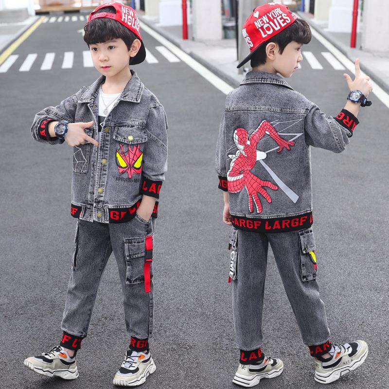童装男童秋装套装2021新款运动韩中大童洋气三件套春秋季潮牌时髦