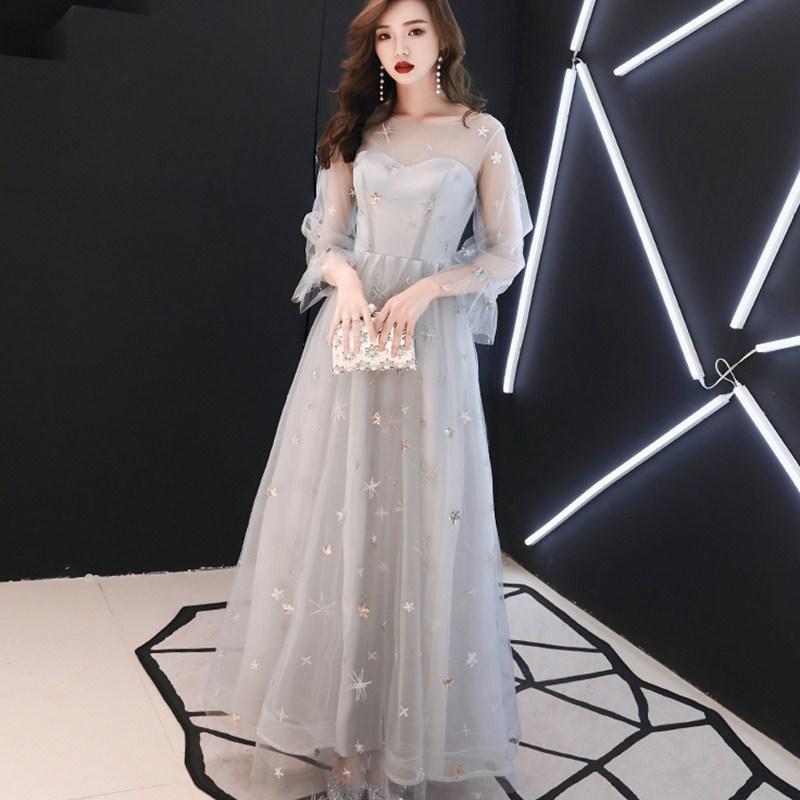 特大码晚礼服裙200斤 宴会2019新款长款显瘦胖妹妹伴娘服加肥加大