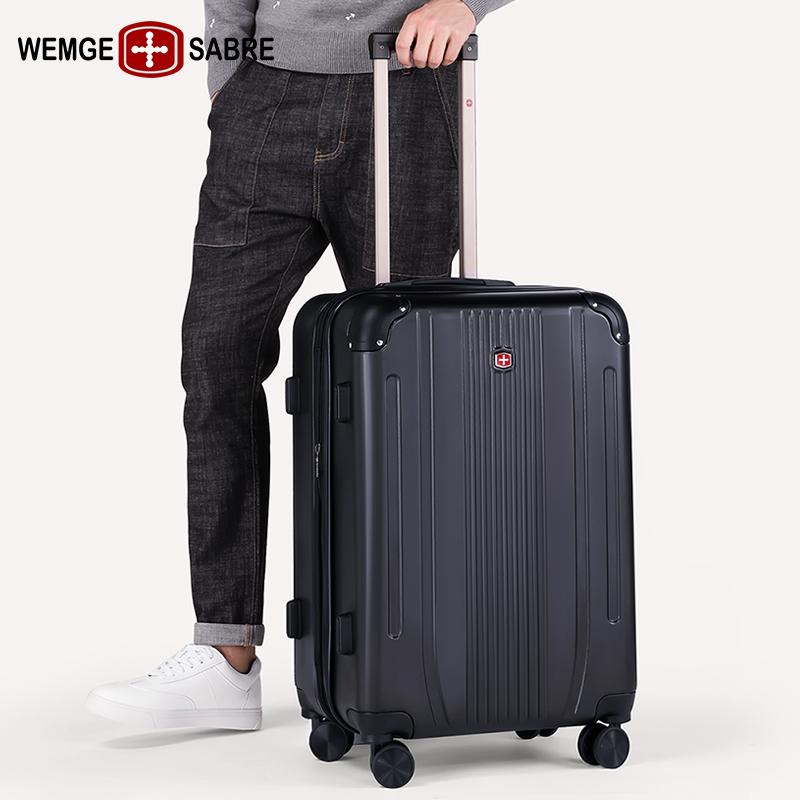寸密码箱子 24 寸登机箱万向轮旅行箱男行李箱 20 瑞士军刃商务拉杆箱