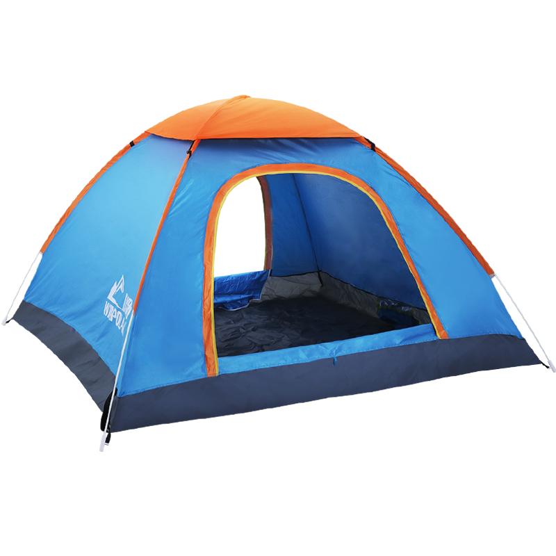 帐篷户外全自动速开野外防雨露营 2人野营单双人加厚家用室内儿童