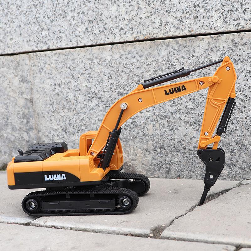 打钻机玩具车推土车儿童挖掘机运输土工程车宝宝破碎机3-6岁2男孩