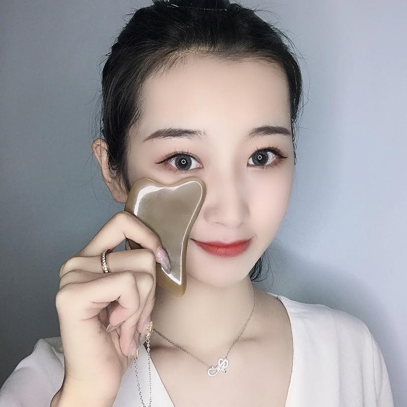 白水牛角刮痧板面部美容全身通用脸部眼部腿部瘦腿颈椎颈部专用女