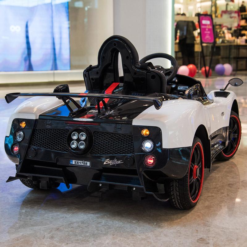 帕加尼儿童电动车四轮电动汽车宝宝遥控玩具车可坐人男女小孩婴儿【图3】