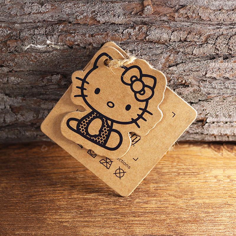 牛皮纸吊牌定做女装服装吊卡订制个性衣服商标设计牛卡空白现货