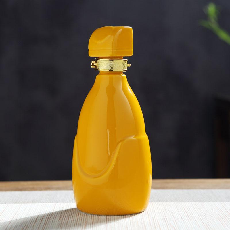 酒瓶陶瓷1斤装创意个性酒坛子酒壶空酒瓶密封白酒瓶瓷瓶子可订制
