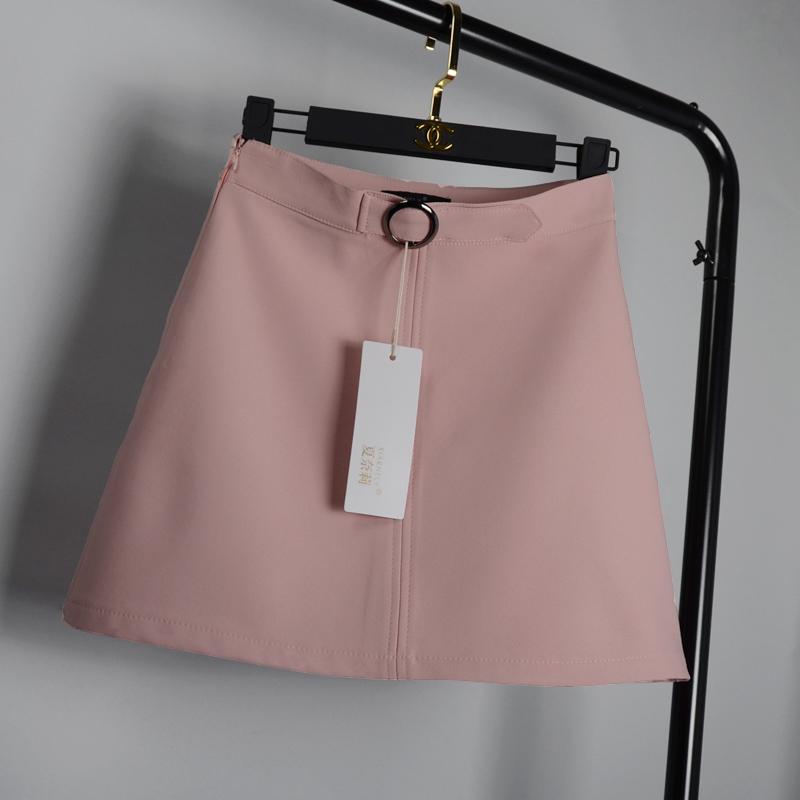2019春新款ins超火的半身裙女高腰学生A字裙夏大码包臀裙黑色短裙