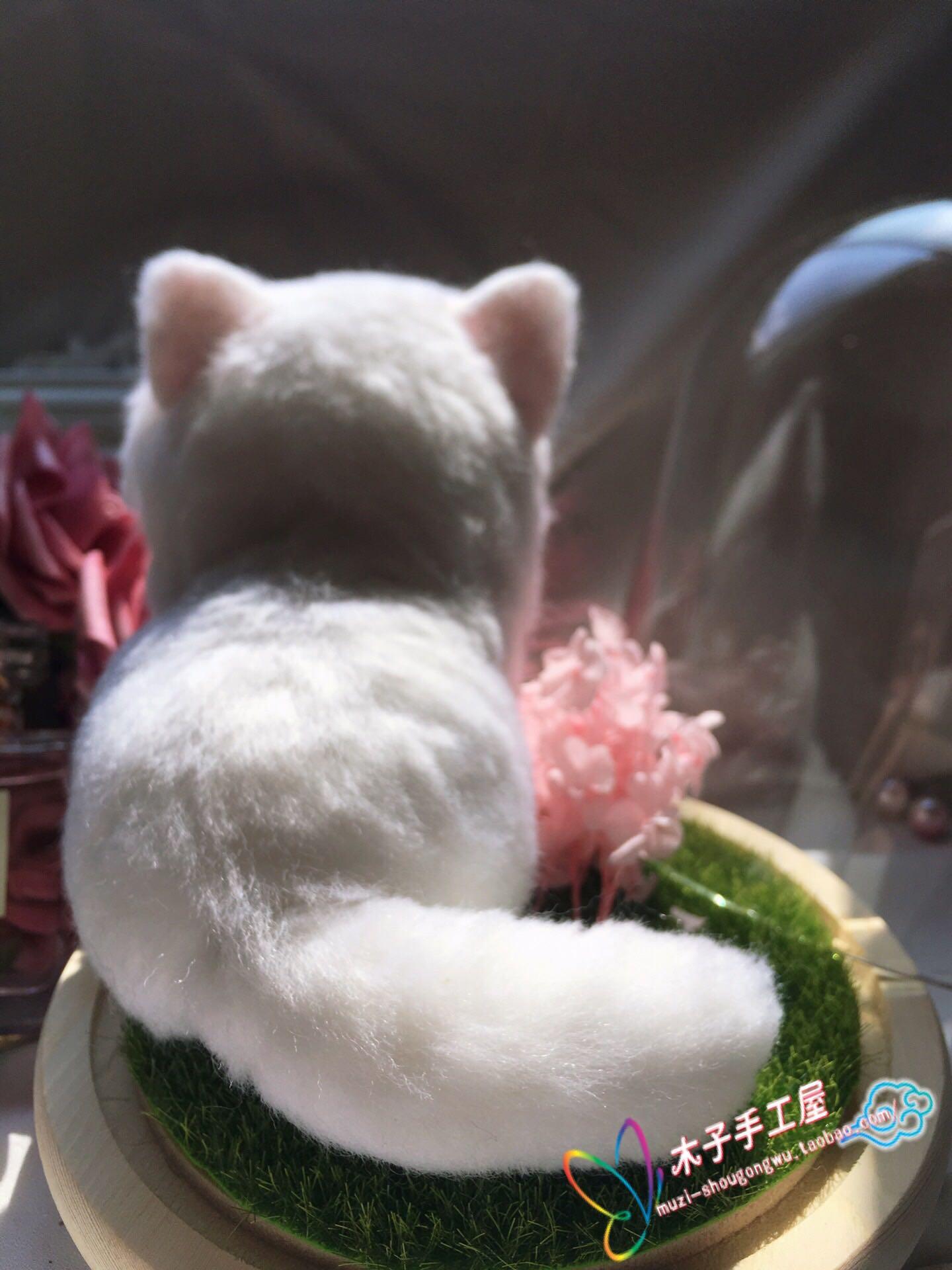 羊毛毡纯手工宠物猫咪狗狗全身仿真来图定制摆件家居微景观装饰