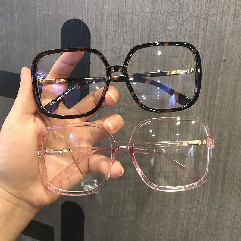 韩版复古大框黑色眼镜框网红款女大脸显瘦小红书方形镜框可配近视
