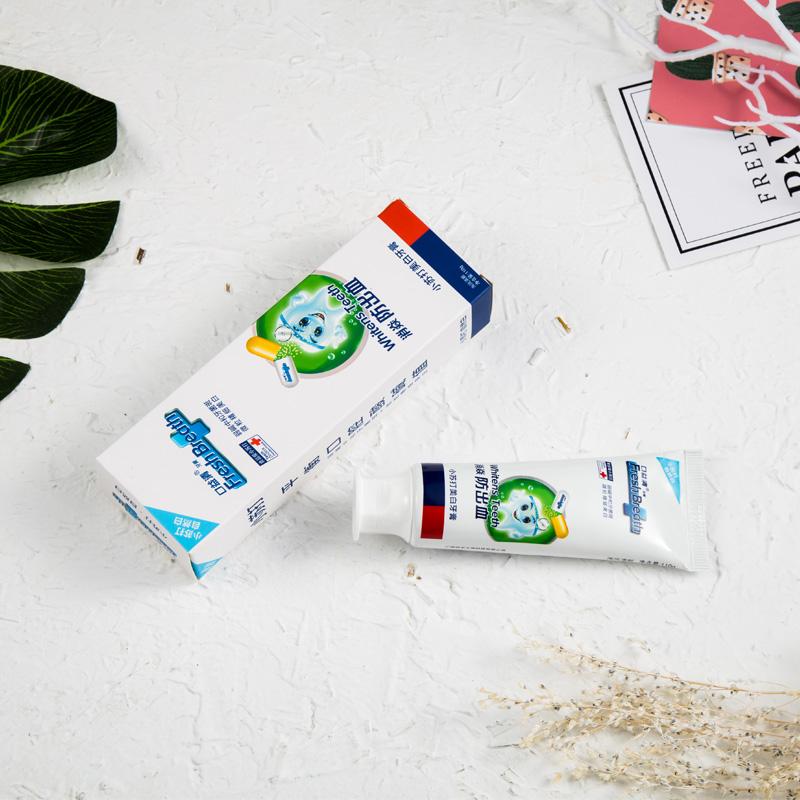 口益清牙齦防出血專用牙膏小蘇打美白去黃牙膏抖音潔白牙白人更美