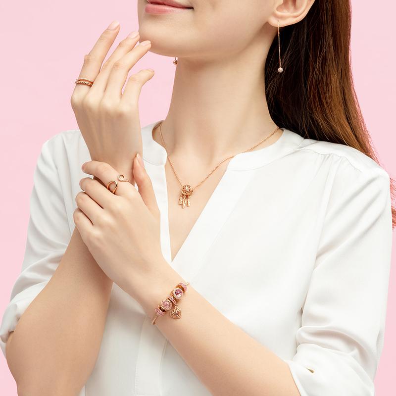【双11预售】Pandora潘多拉爱意交织ZT0667手链轻奢简约时尚女生