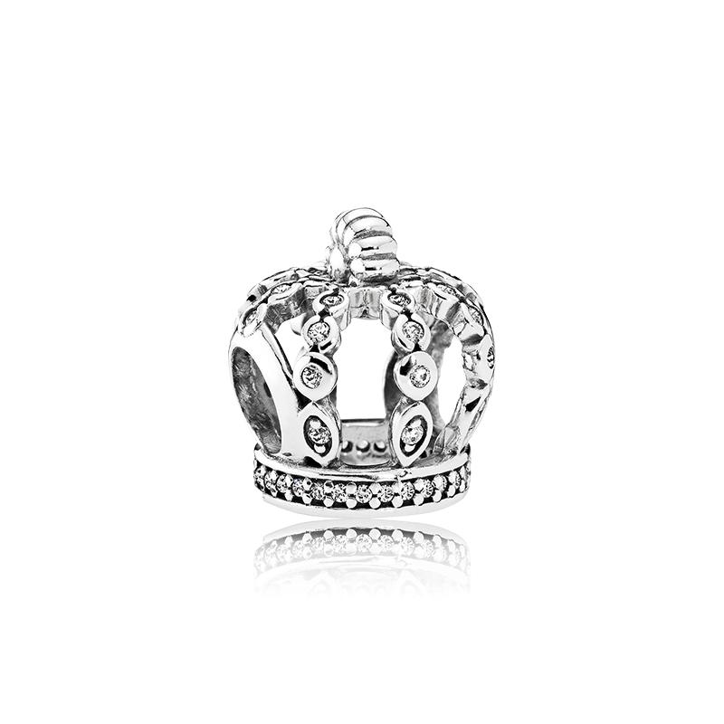 串珠 DIY 手链皇冠饰品 792058CZ 银串饰 925 童话之冕 潘多拉 Pandora