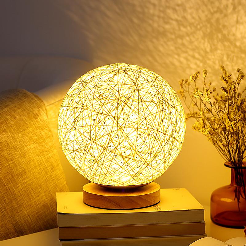 简约现代温馨家用台灯卧室床头创意浪漫梦幻月球灯小夜灯插电婴儿