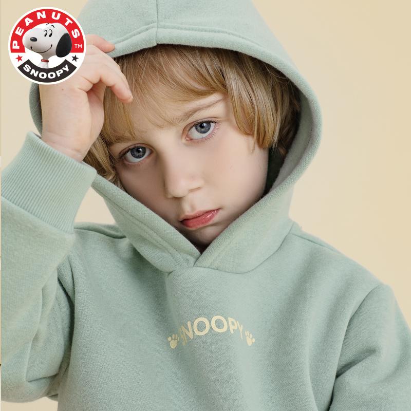 史努比 儿童加绒宝宝卫衣/抓绒外套