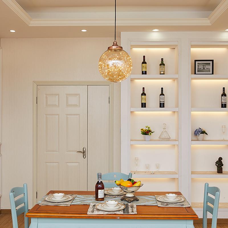 满天星玄关走廊北欧小吊灯现代简约客厅卧室餐厅吧台床头玻璃吊灯