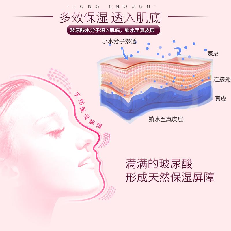 舒黛丝玻尿酸多效补水保湿面膜贴男女学生控油收缩毛孔25ml*10片