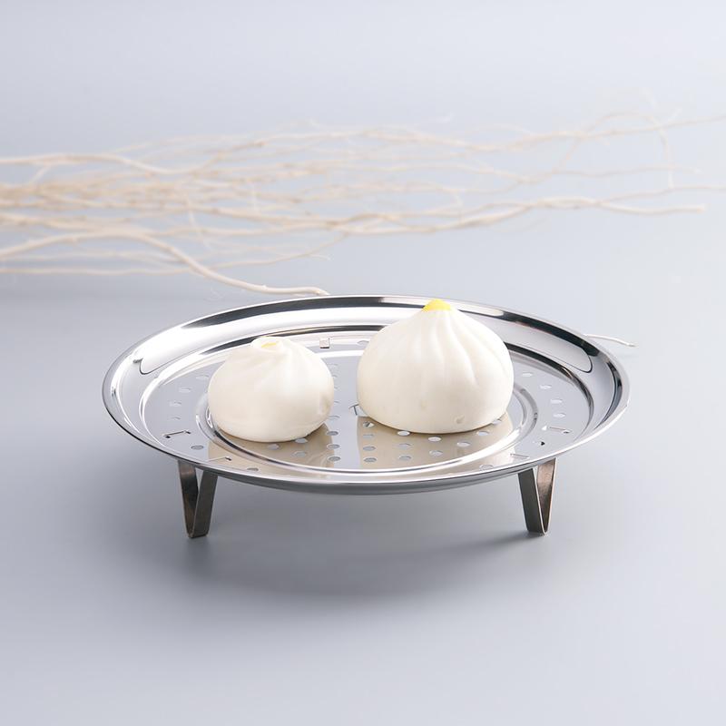 悦味耐高温硅胶铲勺小工具套装+26cm不锈钢蒸盘烹饪工具三件套