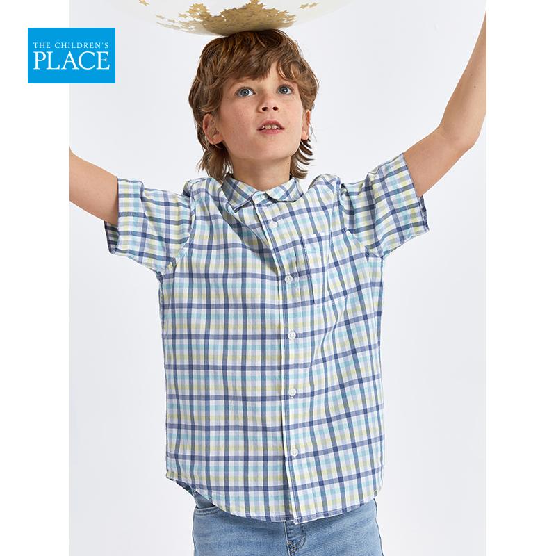 浅库存,100%纯棉:The Children's Place 男童 2020夏季新款短袖衬衫