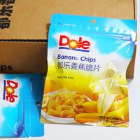 都乐香蕉脆片4袋 60g/袋 dole菲律宾进口蜜饯果干休闲美食包邮 (¥40)