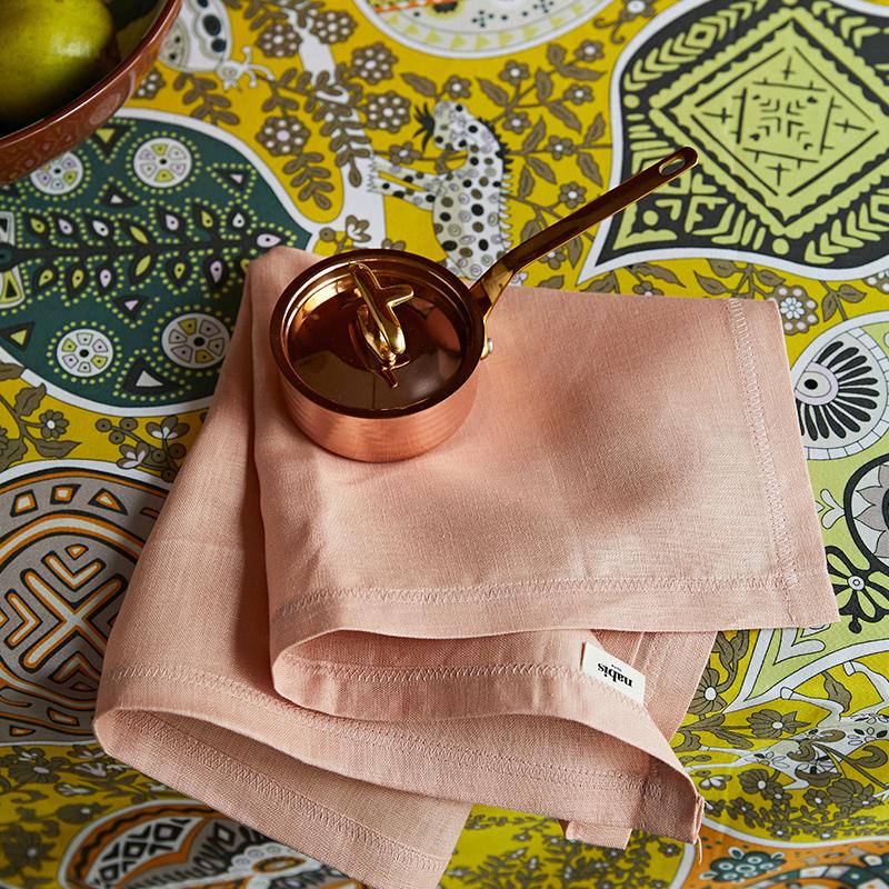 蜡笔派餐巾 亚麻西餐巾欧美式纯色 餐桌盘垫法式餐垫隔热垫口巾
