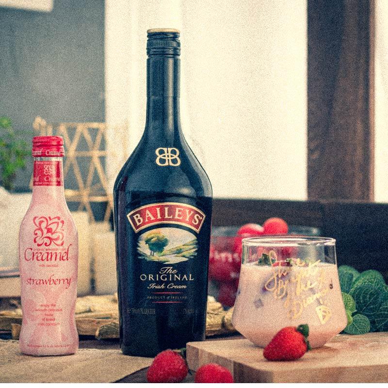 750ml 凯利梅尔草莓利口酒 百利甜酒 爱尔兰进口洋酒力娇酒 Baileys
