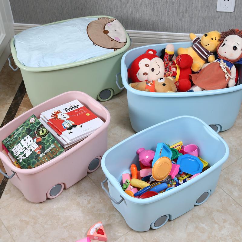 特大号儿童收纳箱塑料宝宝玩具衣服整理箱储物箱子婴儿收纳盒神器【图2】