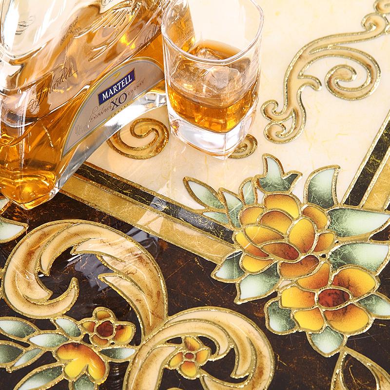 地板砖客厅瓷砖拼花800X800 欧式餐厅地毯砖拼图新款过道入户玄关