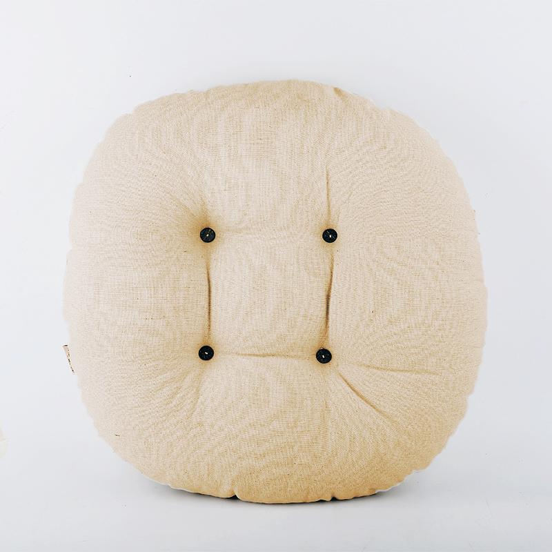 棉麻加厚纯色坐垫椅垫飘窗圆垫子地板蒲团日式打坐靠垫功夫茶坐垫