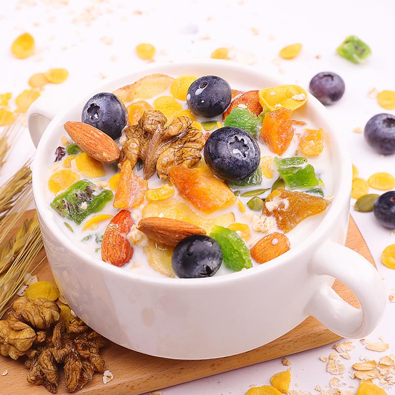益汇坊坚果水果燕麦片早餐即食冲饮酸奶果粒麦片营养代餐饱腹食品 - 图2
