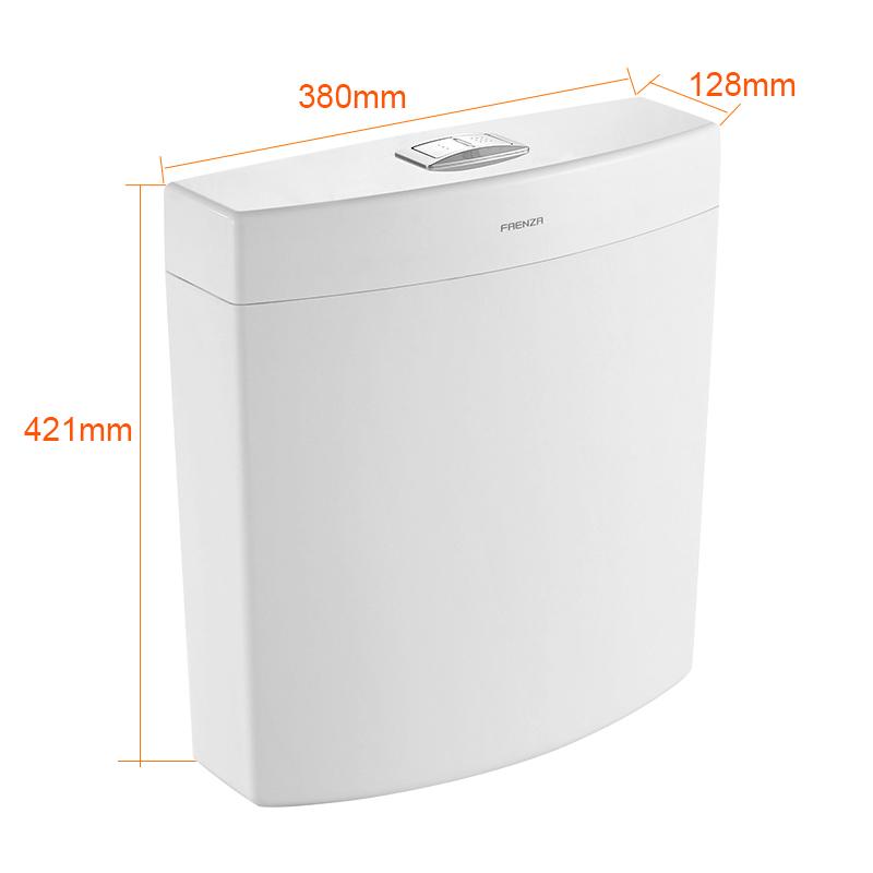 法恩莎卫浴 蹲便器便池蹲厕蹲坑环保水箱 FS8650 带水件及排水管