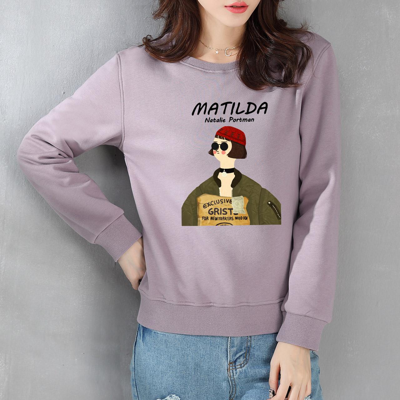 仿羊羔绒加厚保暖绒衫女韩版套头冬装新款宽松字母加绒卫衣女外套