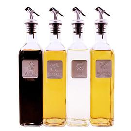 玻璃油瓶防漏油加厚酱油瓶醋瓶套装调料瓶大号瓶家用厨房用品油壶