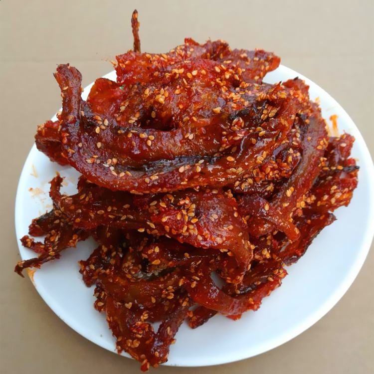 即食蜜汁小鱼干海味零食一件十斤 北海龙润香辣龙头鱼干 整箱批发