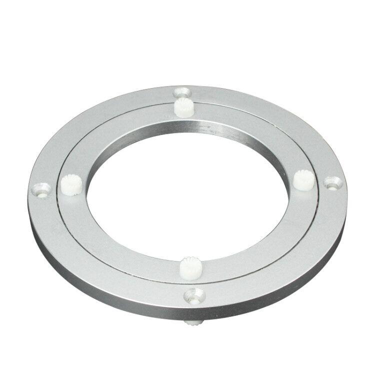 圆桌转盘底座铝合金餐桌家用玻璃大理石圆形饭桌桌子桌面旋转轴承