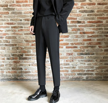 Casual pants men's autumn ins straight fall sense suit pants Hong Kong style pants men's Korean version of the trend of student pants