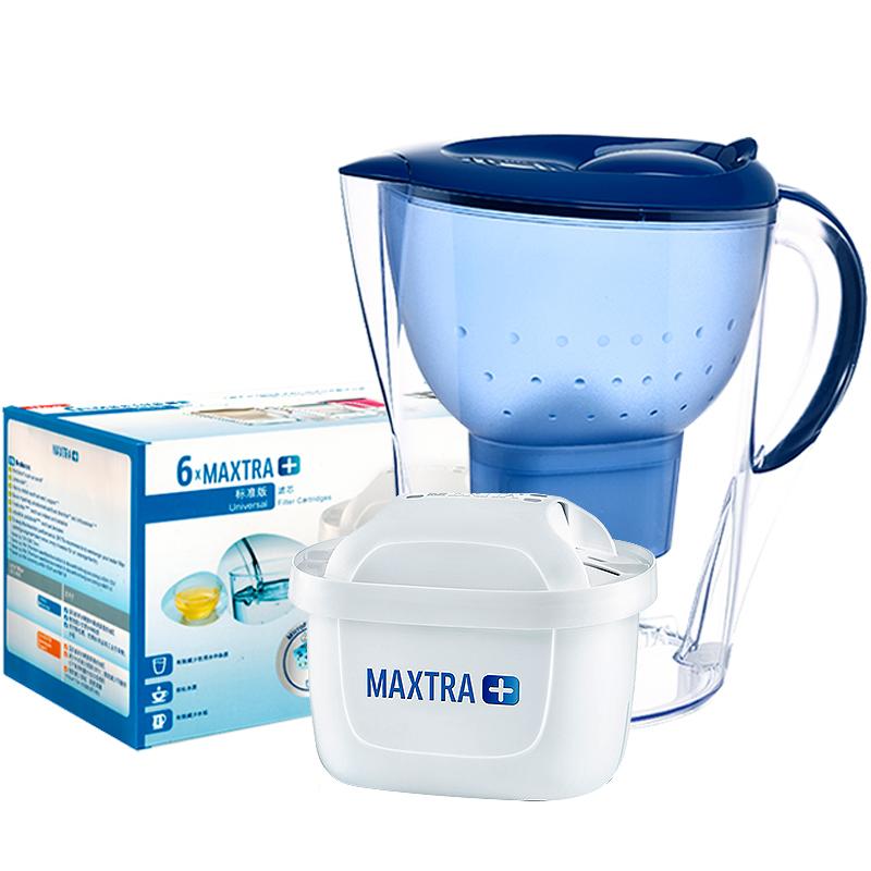 德国Brita碧然德滤水壶滤芯家用净水壶MarellaXL过滤水壶1壶七芯