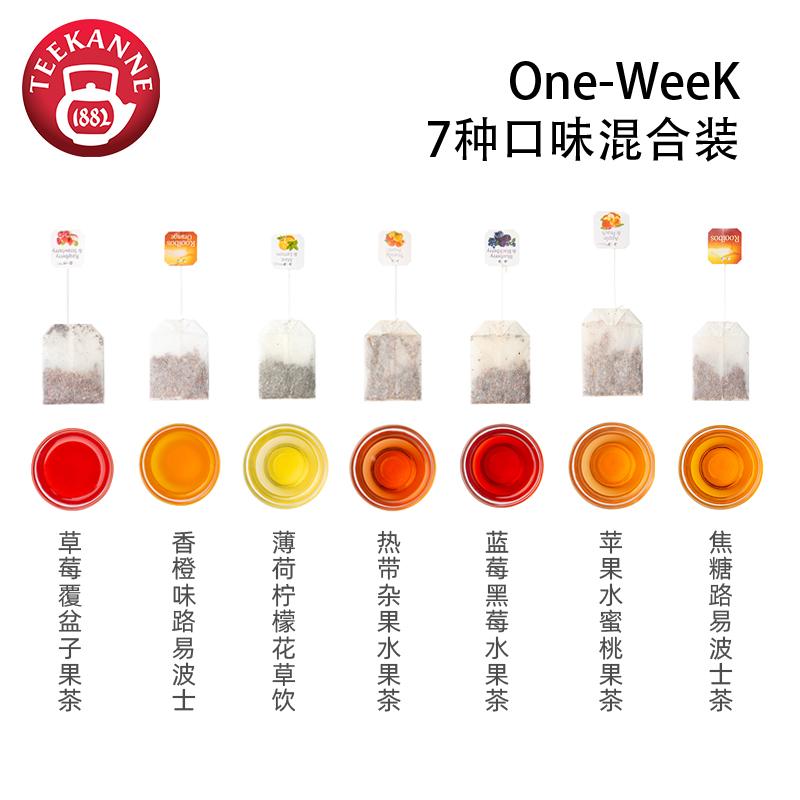 德国百年品牌,TEEKANNE 恬康乐 一周好茶水果 7种茶包混合装
