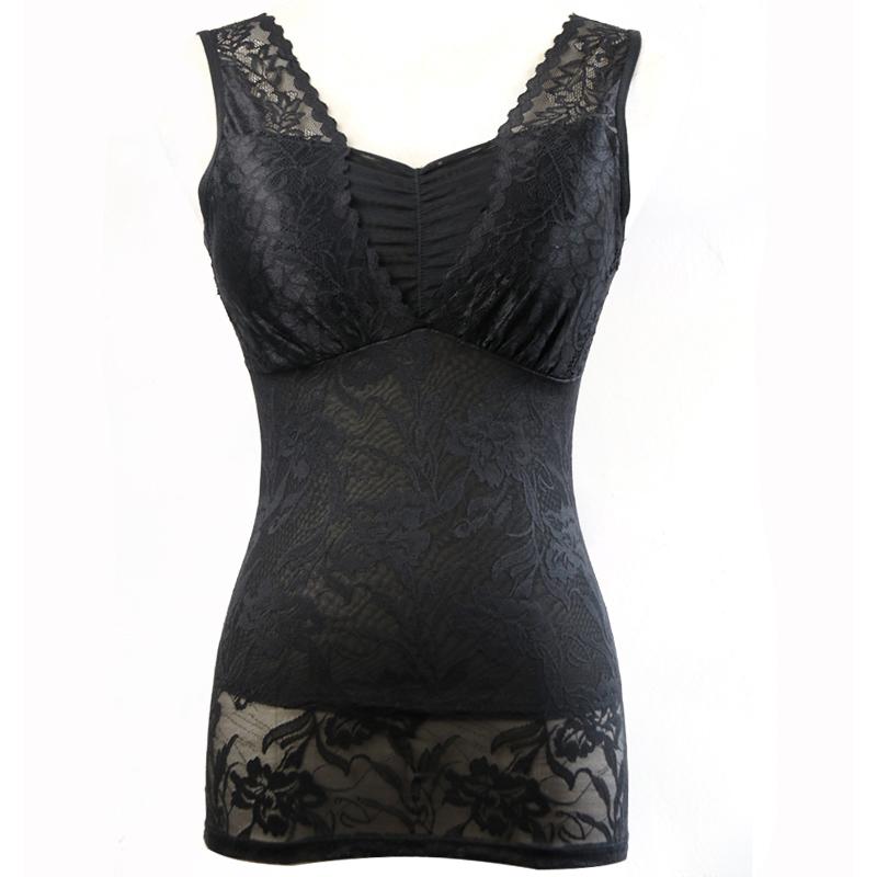 免穿文胸塑身衣女夏季超薄美体上衣束腰束身燃脂瘦身背心收腹塑形