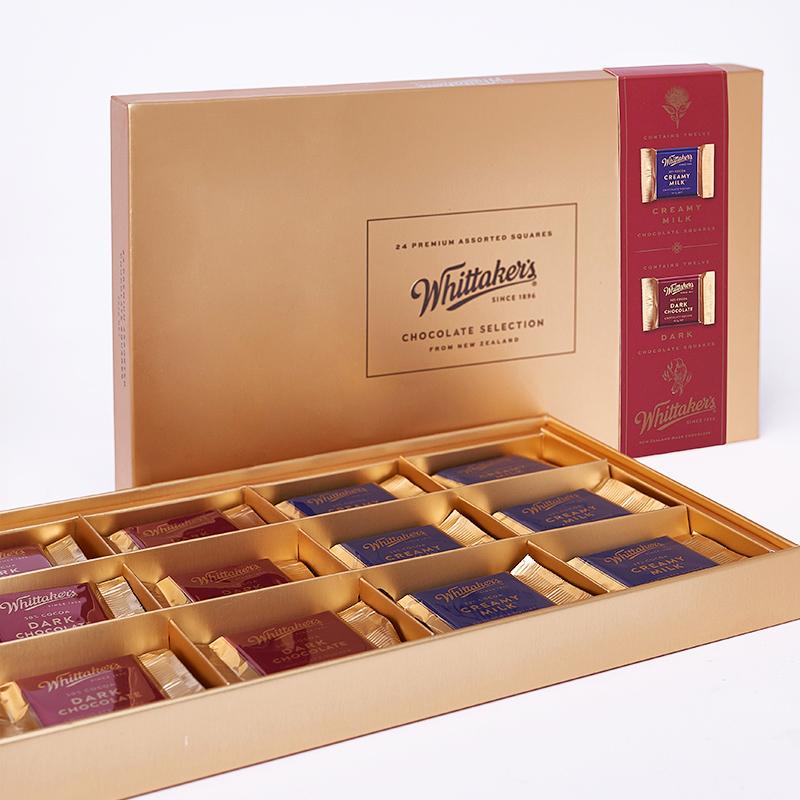 新西兰原装进口whittakers惠特克情人巧克力七夕礼盒装252g礼品