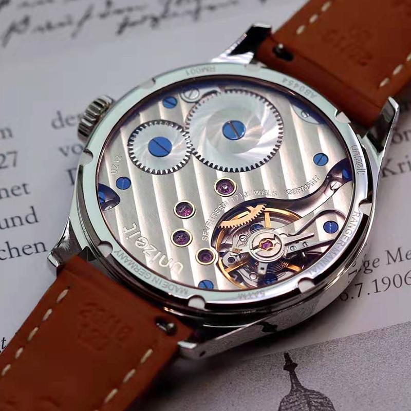 Unizeit优立时手表 德国银夹板 金套筒 鹅颈微调快慢针手动机械表