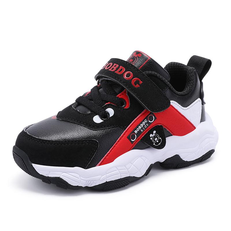 新款秋款韩版中大童男孩儿童运动鞋女 2019 巴布豆童鞋旗舰男童鞋子