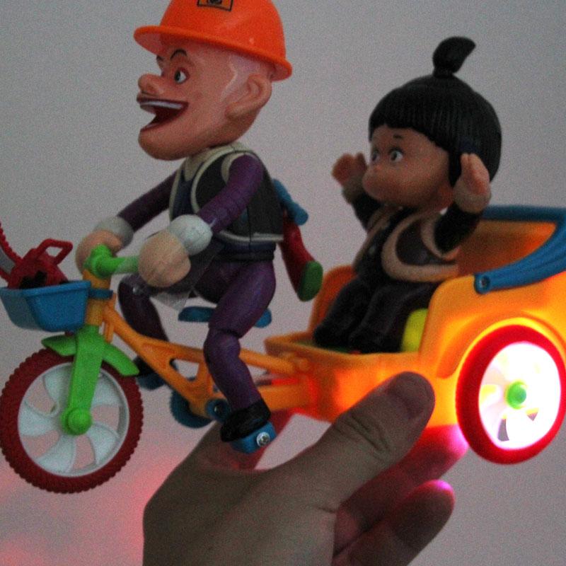 熊出没玩具车光头强嘟嘟的动力三轮车熊大熊二光头强骑自行车