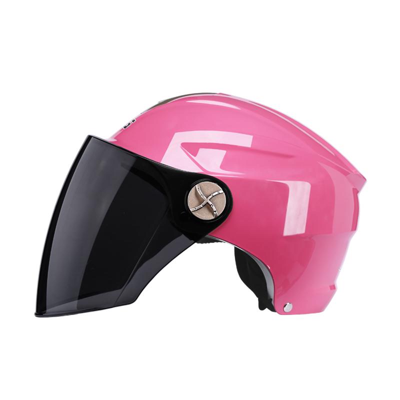 DFG电动电瓶摩托车头盔灰男女士通用四季冬季保暖可爱轻便安全帽