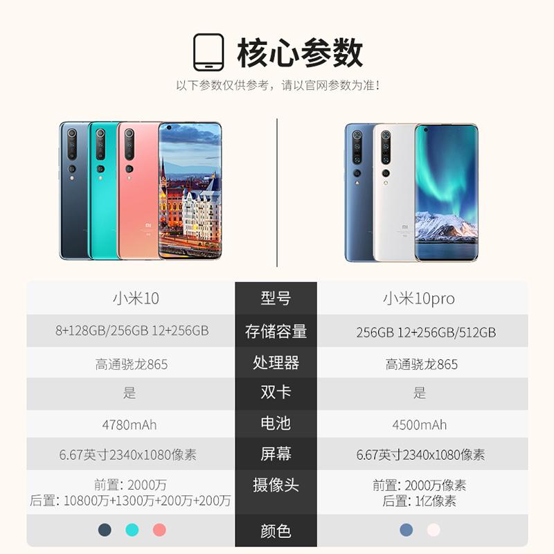 xiaomi 手机 5G 亿像素智能学生拍照游戏小米官方旗舰店 1 手机 5g 865 骁龙 10 小米
